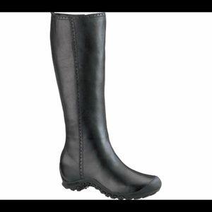 Merrell Plaza Peak Leather Waterproof Black Boots